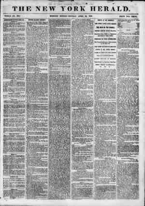 THE NEW WHOLE NO. 6814. MORNING YORK HER EDITION-MONDAY, APRIL 23, 1855. PEJCE TWO CENTS. ADVERTISEMENTS RENEWED EYEEI DAY.