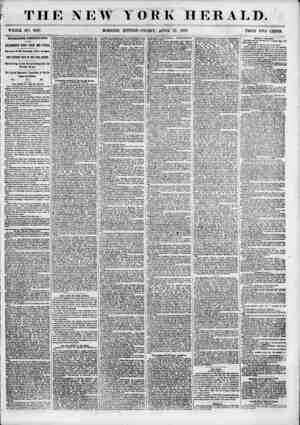 T HE NEW WHOLE NO. 6818. TORK HERALD. EDITION? FRIDAY, APRIL 27, 1855. PRICE TWO CENTS. INTERESTING EUROPEAN NEWS BY TBI...