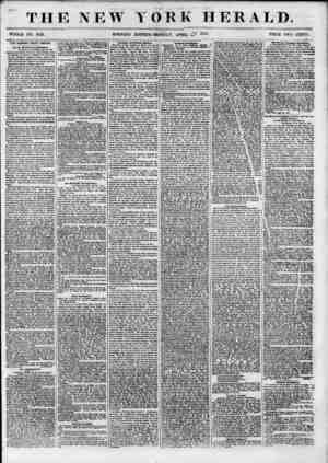 THE NEW WHOLE NO. 6821. MORNING YORK HERALD. EDITION-MONDAY, APRIL 1855> PRICE TW0 CSNTS. THE DANISH WEST INDIES. Oar St....