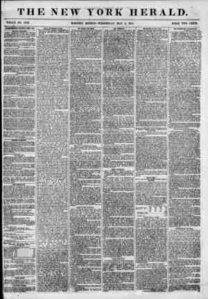 THE NEW TOM HERALD. WHOLE NO. 6823. MORNING EDITION? WEDNESDAY, MAY 2, 1855. PRICE TWO CENTS. ADTHRTISIIENTX RENEWED EYBRY