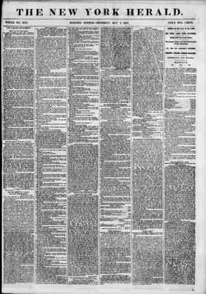 """r ' ? THE NEW TORE HERALD. """"VPHOLE NO. 6824. MORNING EDITION? THURSDAY, MAT 3, 1855. PRICE TWO CENTS. THE LIQUOR MOVEMENT. i"""