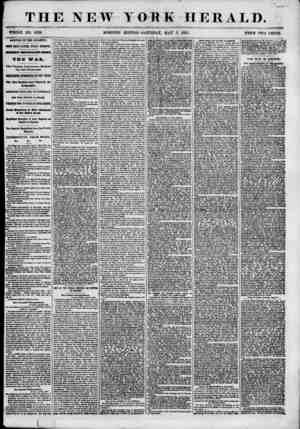 """? 'WJC. THE NEW YORK HERALD. """"WHOLE NO. 6826. MORNING EDITION? SATURDAY, MAY 5, 1855. PRICE TWO CENTS. ARRIVAL OF THE..."""