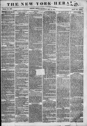 THE NEW TOR WHOLE NO. 6833. MORNING K HERAT o ? ~~ *' i. MAT 12, 1855. PRICE TWO CENTS. jPWnflBMBlffra KEJTEWED EYEK^PAL...