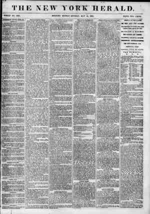 """THE NEW YORK HERALD. - - ? 1 ' """" ? ' ? ? ? ? . ? WHOLE NO. 6835. MORNING EDITION-MONDAY, MAY 14, 1855. PRJCE TWO CENTS...."""