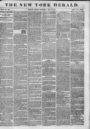 THE NEW YORK HERALD. WHOLE NO. 6837. PSICE TWO CENTS. CAPTURE OF LOUIS BAKES. rrival of the Clipper Grapeshot, with the...