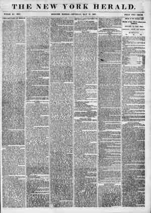 THE NEW YORK HERALD. WHOLE NO. 6838. MORNING EDITION? THURSDAY, MAY IT, 1855. PRICfl TWO CENTS. THE CAPTURE OF BAKER the WAY