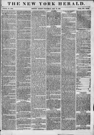 THE NEW YORK HERALD. i,'? WHOLE NO. 6844. MORNING EDITION? WEDNESDAY, MAT 23, 1855. PRICE TWO CENTS. THE SOTJLE AND PEREY...