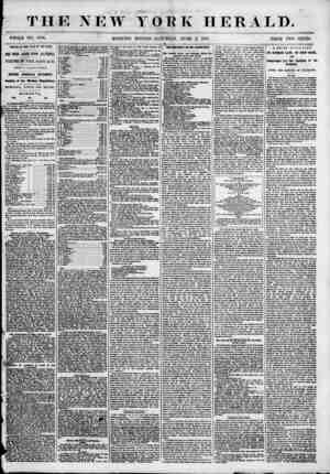 THE NEW YORK HERALD. WHOfiE NO. 6854. MORNING EDITION-SATURDAY, JUNE 2, 1855. PRICE TWO CENTS ABRITAl OR TUB ST, IE OK THE