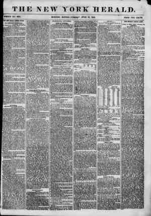 THE NEW WHOLE NO. 6864. MORNING YORK HERALD. EDIlTON-TUE5tt*T, JUNE 12, 1855. PRICE TWO OHOTS TIE ilflW NOTHING NATIONAL...