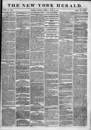THE NEW T OR TOOLE NO. 6866. MORNING EDITION- -THURSD AT , K HERALD. _ - JUNE 14, 1855. PRICK TWO CENTS. TEE im NOTfllNG...