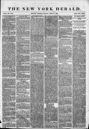 THE NEW YORK HERALD. WHOLE NO. 6882. MORNING EDITION-SATURDAY, JUNE 80, 1855. PRICE TWO CENTS. ADVERTISEMENTS RENEWED ETEBY