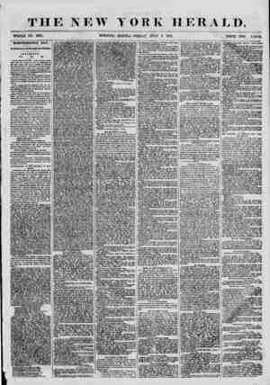 THE NEW YORK HERALD. WHOLE NO. 6887. MORNING EDITION-FRIDAY, JULY 6 1855. PRICE TWO CENTS INDEPENDENCE DAY. ItM Celebration