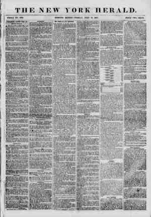 THE NEW YORK HERALD. j WHOLE NO. 6891. MORNING EDITION-TUESDAY, JULY 10. 1855. PRICE TWO CENTS. 1DYKDTISEMKNTS RENEWED EVERY