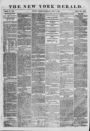 """THE NEW YORK HERALD. WHOLE NO. 6892. MORNING EDITION-WEDNESDAY, JULY 11 1855. PRICE TWtTcENTs"""" ARRIVAL 01 T1IE ILLINOIS, WITH"""