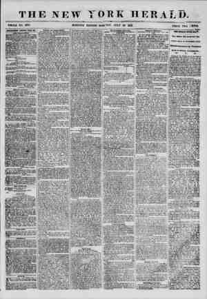 THE NEW WHOLE NO. 6904 MORNING IOEK HERALD. EDITION-MONDAY, JULY 33 1855. PRK^o _H?MTUW9E!IT8 4ENKWK& I5VKBT BAY. ?iw...