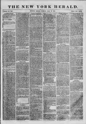 """THE NEW """"WHOLE NO. 8905 MORNING YORK HERALD. ? EDITION? TUESDAY, JULY 24 1855. PRICE TWO UKNT8. 1 lie (>ioblbito>y Liquor L?w"""