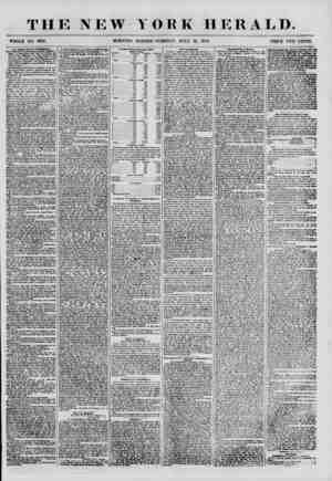 """THE NEW WHOLE NO. 6912. MORNING YORK HERALD. EDITION-TUESDAY, JULY 31, 1855. PRICE TWO CENTS. ^ssls Co"""" tSrt-HHW MANKKH OF"""