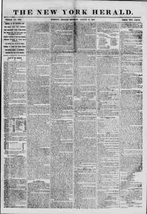 THE NEW TORE HERALD. WHOLE NO. 6918. MORNING EDITION-MONDAY, AUGUST 6, 1855. PRICE TWO CENTS. ARRIVAL OF THE NORTHERN LIGHT.