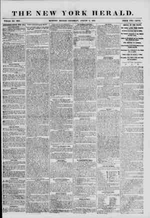 THE NEW Y WHOLE NO. 6921. MORNING EDITION OH K HERALD. THURSDAY, AUGUST 9, 1855. PRICE TWO CENTS. ADVERTISEMENTS RENEWED...