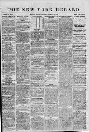 THE NEW V WHOLE NO. 6923. ORK HERALD. SATURDAY, AUGUST 11, 1855. PRICE TWO CENTS. H tllVmiSKMEim KKSKWKIl KVKKV DAf. WEW...