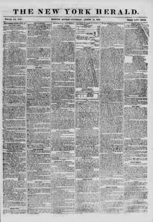 """THE NEW YORK HERALD. - TT , . , . . - ? : ? ? - ? - ~ ~ ? ? - WHOLE NO. 0928. MORNING EDITION""""? TjlTURSD AY, AUGUST 16, 1855."""