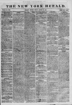 THE NEW TOOLE NO. 6929. MORtflNG YORK HERALD. EtHTION? FRIDAY, AUGUST 11 1*& ?CB ?> ?? ADVERTISEMENTS RENEWED EI?KT EAY. XBW