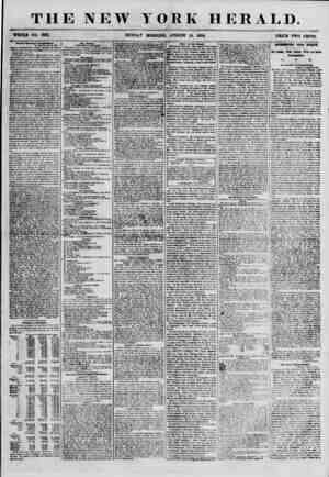 """THE NEW YORK HERALD. WHOLE NO. 6931. SUNDAY MOBNING, AUGUST 19, 1856. PBICE TWO CENTS. ??* ?*"""" Domingo Cornqptaieurt. St...."""