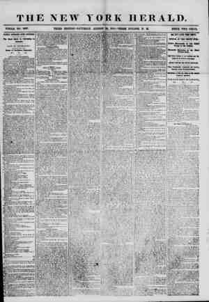THE NEW YORK HERALD. WHOLE NO. 6987. THIRD EDITION-SATURDAY, AUGUST 25, 1855.-THREE O'CLOCK P. M. PRICE TWO CENTS. RATIONAL