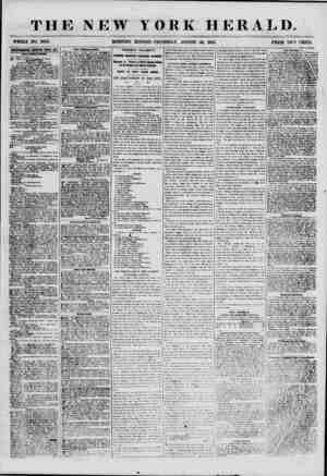 THE NEW WHOLE NO. 6942. MORNING YORK HERALD. EDITION-THURSDAY, AUGUST 30, 1855. PRICE TWO CENTS. fjflWB? MB KElfKWKD ETEEI