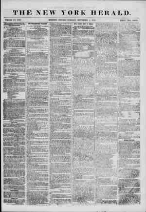 THE NEW Y WHOLE NO. 6947. MORNING EDITION () R K HERALD. TUESDAY, SEPTEMHEIt 4, 1855. PKICE TWO CENTS 'ADVERTISEMENTS RENEWED