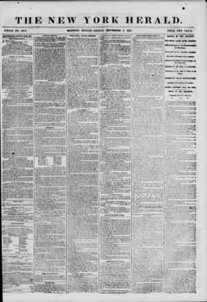 """THE NEW WHOLE NO. 6950. MORNING YORK HERALD. EDITION-FRIDAY, SEPTEMBER 7, 1&"""">5. PRICE TWO CENTS. {AMKRTISEMENT8 RENEWED HUM"""