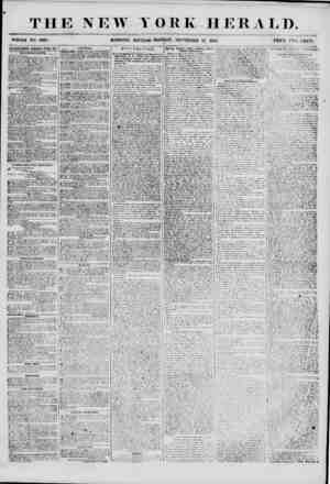 THE NEW YORK HERALD. WHOLE NO. 6960. MORNING EDITION-MONDAY, SEPTEMBER IT, 1855. PRICK TWO CENTS. * ALVLKT1SOE.VT8 RENEWED
