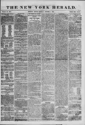 THE NEW WHOLE NO. 6980. MORNING YORK HERALD. EDITION? MONDAY, OCTOBER 8, 1855. PRICE TWO CENTS. ADVERTISEMENTS RENEWED EVERY