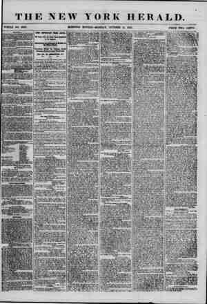 THE NEW YORK HERALD. WHOLE NO. 6987. MORNING EDITION-MONDAY, OCTOBER 15, 1855. PRICE TWO CBIfTS. FOUTIOAU CTH .SEN ATORIAL