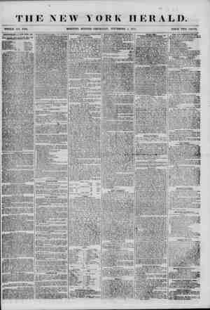THE NEW YORK HERALD. WHOLE N-<?. 7004. MORNING EDITION-THURSDAY, NOVEMBER 1, 1855. PRICE TWO CENTS. AOTE&7UB1KNT& *i M *:'D