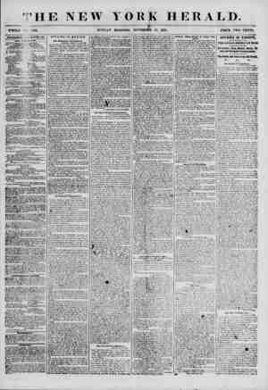 ' HE NEW YORK HERALD. \ t 5= WHOLK -'V HI2L SUNDAY MORNING, NOVEMBER IS, 1855. PRICE TWO CEVTS. ADTCBTlSEMKm i ' .1) E? BAT.
