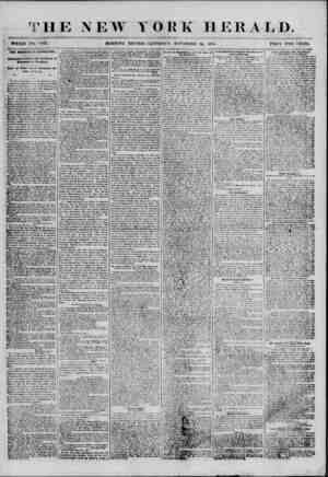 *4 . ? W YORK HERALD. WHOLE NO. MOKN(N(i EDITION-SATURDAY, NOVEMBER 2A. 1855. PRICE TWO CENTS THE MORTEVIf 0 UEVOLITION....