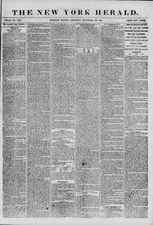 THE NEW YORK HERALD. WHOLE NO. 7032. MORNING EDITION-THURSDAY, NOVEMBER 29, 1855. PRICE TWO CENTS. THE STANWIX HILL TRAGEDY.