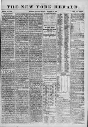 THE NEW YORK HERALD. WHOLE NO. 7036. . MORNING EDITION-MONDAY, DECEMBER 3, 1855. PRICE TWO CENTS. ? NEWS DIRECT FROM RUSSIA.