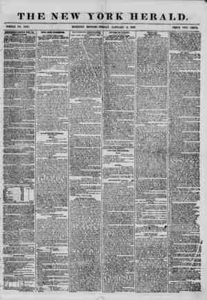 THE NEW WHOLE NO. 7067. MORNING X OH K HERALD. EDITION-FRIDAY, JANUARY 4, 1856. PfilCE TWO CENTS. ASflinSEHSNTB EENKWiiJ Kf