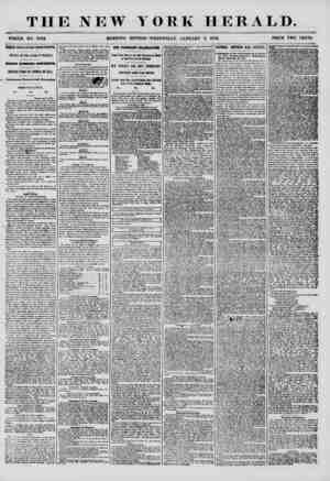 THE NEW YORK HERALD. WHOLE NO. 7072. MORNING EDITION? WEDNESDAY, JANUARY 9, 1856. PRICE TWO CENTS. THREE DAYS LATER FROM...