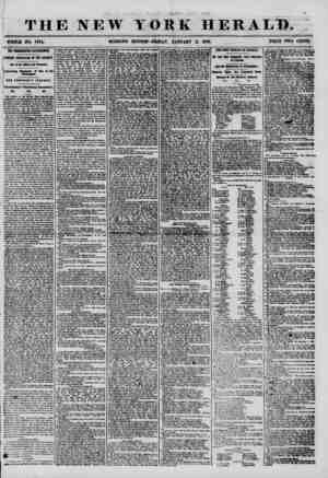 THE NEW WHOLE NO. 7074. MORNING tj ft r ? % YORK HERALD, ' EDITION? FRIDAY, JANUARY II, 1856. PRICE TWO CENTS. ; THE...