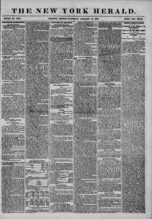 THE NEW YORK HERALD. WHOLE NO. 7082. MORNING EDITION-SATURDAY. JANUARY 19, 1856. PRICE TWO CENTS. Oar Special Dcqwtclui. THK