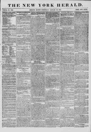 THE NEW YORK HERALD. -WHOLE NO. 7086. MORNING EDITION- WEDNESDAY. JANUARY 23. 1856. PRICE TWO CENTS. ADVERTISEMENTS RENEWED