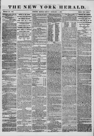 THE NEW WHOLE NO. 7095. MORNING YORK HERALD. EDITION? FRIDAY FEBRUARY 1, 1856. ? PRICE TWO CENTS. Asmmmm renewed every day.