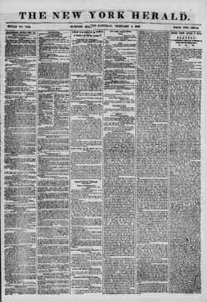 THE NEW MORNING YORK HERALD. ^OH-SATTODAI, FKBRCaRY 2, 1868. HUGE rTO^TS UTBBTBEMBBT8 RENEWED EFflRI DAT. raw pcbuqatiom. A