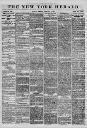 THE NEW YORK HERALD. ? WHOLE NO. 70*7. SUNDAY MORNING, FEBRUARY 3, 1856. PRICE TWO CENTS. IMPORTANT FROM WASHINGTON....