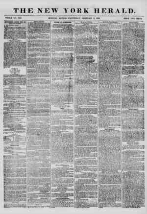 THE NEW YORK HERALD. WHOLE NO. 7100 MORNING EDITION? WEDNESDAY, FEBRUARY 6, 1856. 4BYERTISKMENT8 EEUEWEB KTBBY KIT, HEW...