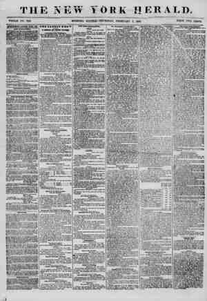 THE NEW YORK HERALD. WHOLE NO. 7101 MORNING EDITION? THURSDAY, FEBRUARY 7, 1856. PRICE TWO CENTS. ABVERTISEMENTS SliNKWKB...