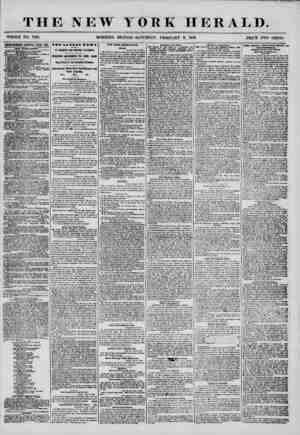 THE NEW YORK HERALD. WHOLE NO. 7103, MORNING EDITION-SATURDAY, FEBRUARY 9, 1856. PRICE TWO CENTS. UYEEIISEMENTS RENEWED EVERY